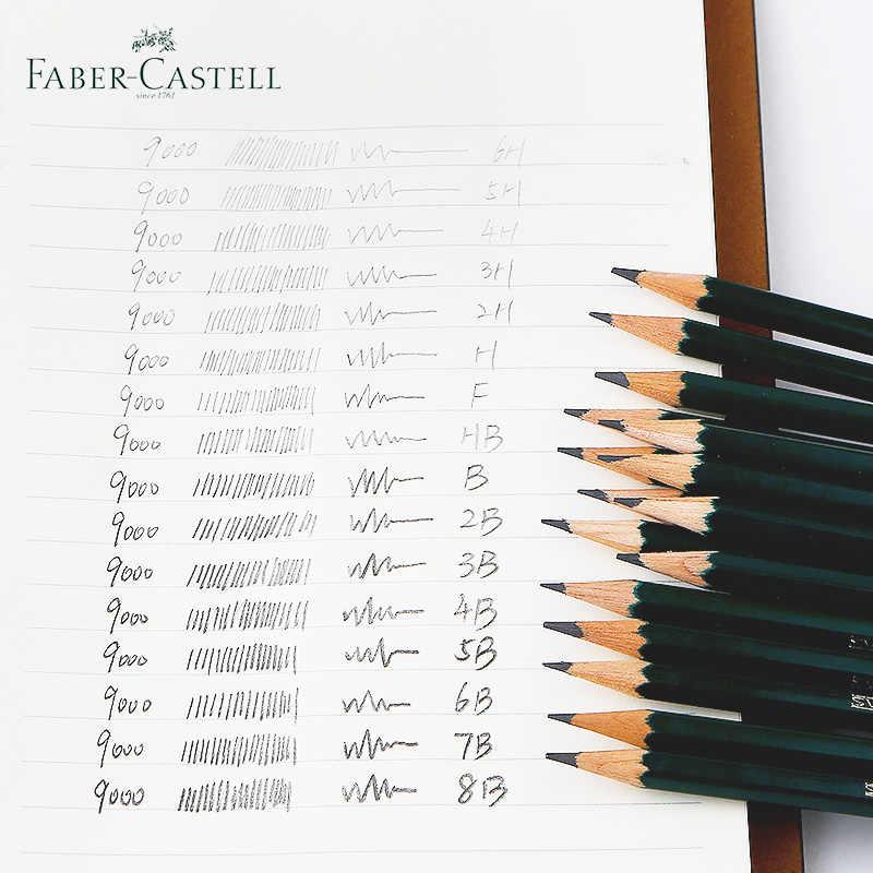 16Pcs Faber Castell Art Graphite Pencils 9000# for Writing ...