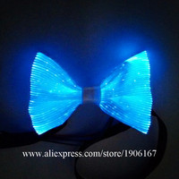 Fashion Led Luminous Bow Tie Light Up Flashing Led Fiber Optic Bow Tie Christmas Masquerade Party Stage Wears Tie New Year Gift