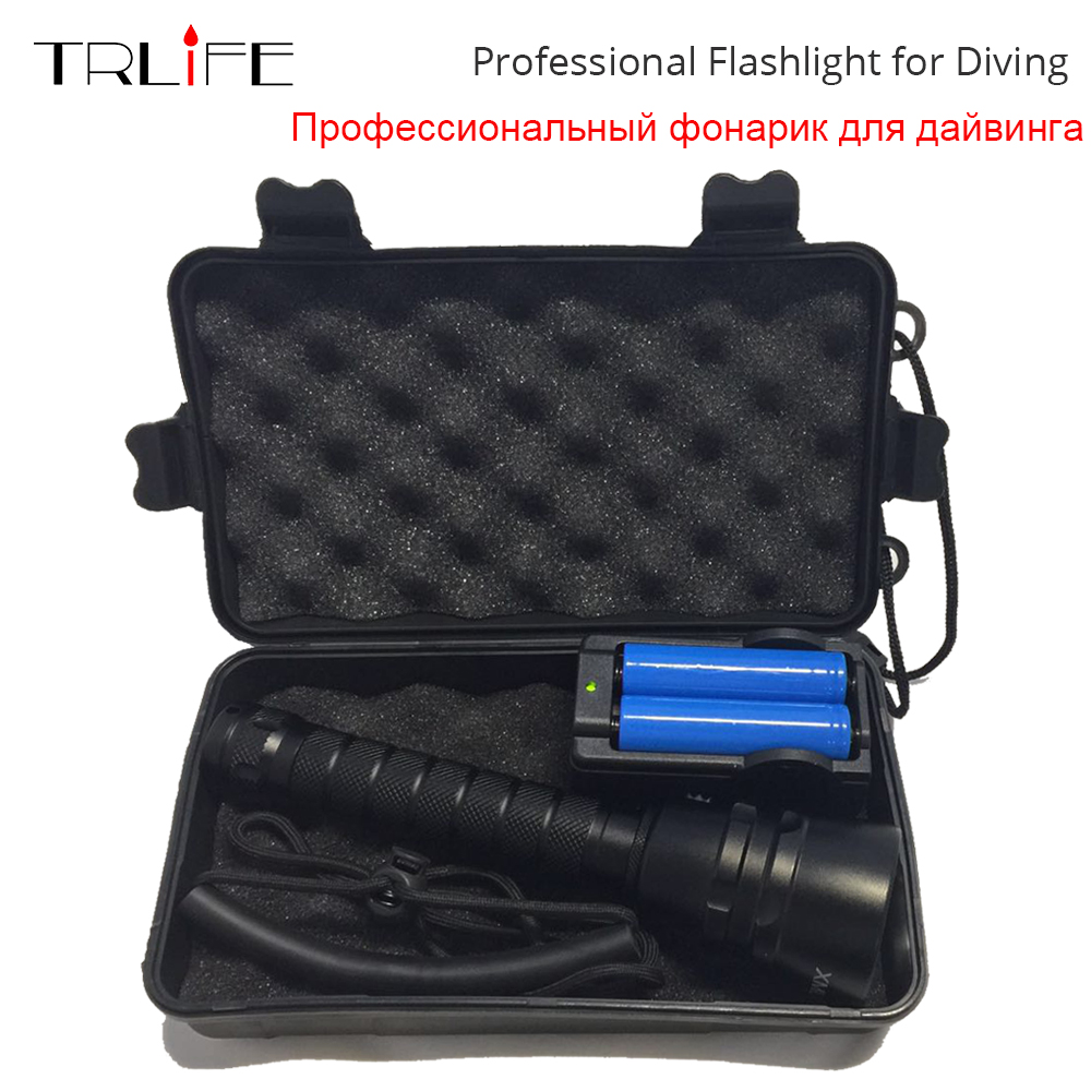 15000lums Diving For Flashlight Torch L2/T6 Dive torch 200M Underwater Tactical led Flashlights Lantern by 18650 battery lumiparty 18000lm 7 xml t6 15000lm xml t6 led dive torch 200m underwater waterproof tactical led flashlights lantern lamp