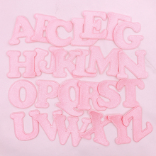 Pink Letters Patch English Alphabet Embroidery Applique For T-shirt Name Patches Iron On Garment Accessories