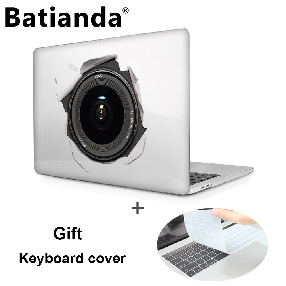 Prix pour Batianda imprimé cas pour 2016 nouveau macbook pro 13 15 cas avec Retina avec/sans tactile Bar A1706 A1708 A1707 Cristal couverture