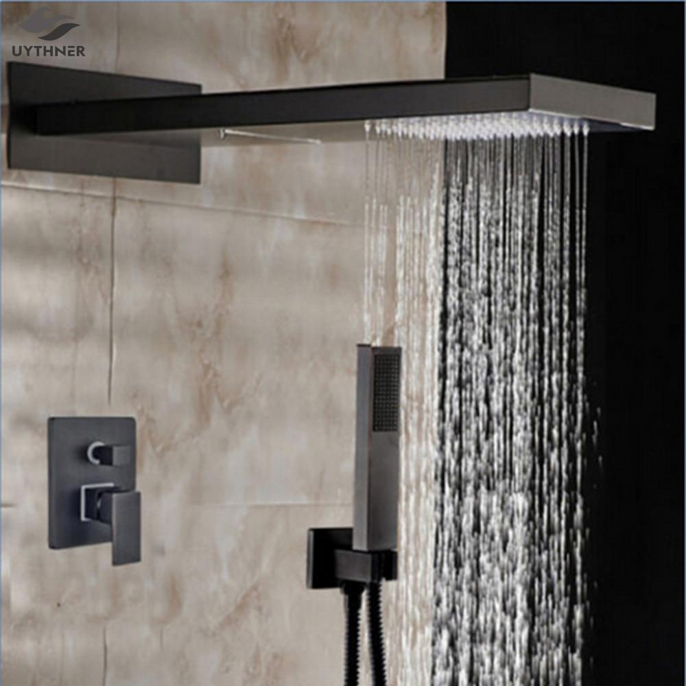 uythner modern rainfall shower head oil rubbed bronze shower faucet mixer tap single handlechina