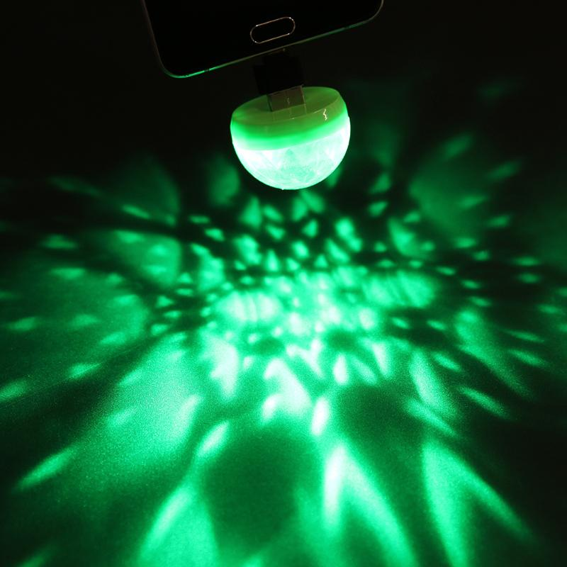 Home Disco Lights: USB Port Mini Disco Light Portable Home Party Personal