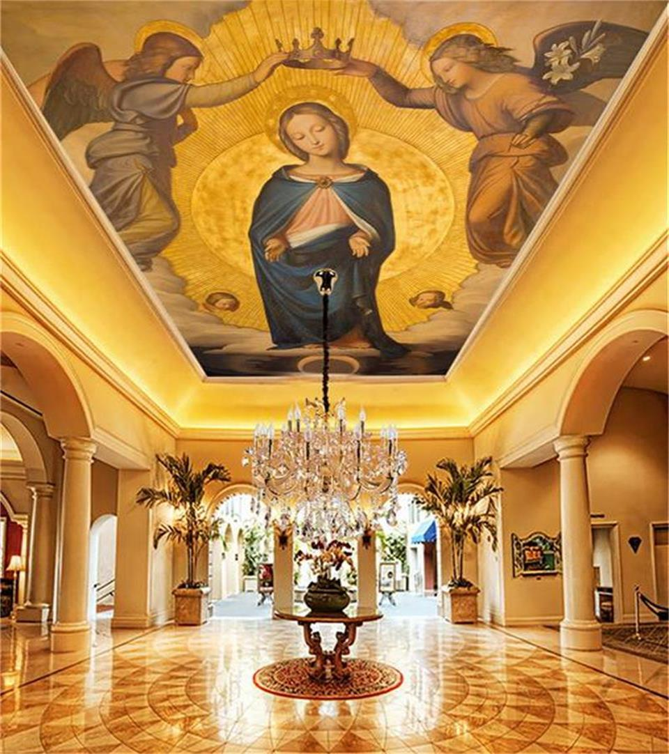 custom size 3d photo wallpaper living room bed room ceiling mural  Mother of God angel painting non-woven wallpaper for wall 3d ceiling non woven wallpapr home decoration wallpapers for living room 3d mural wallpaper ceiling customize size