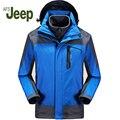 2016 новый АФН JEEP мужская Зимняя Куртка мужская Куртка Из Двух частей Теплые и Удобные Ветрозащитный Куртка 3 цветов 210