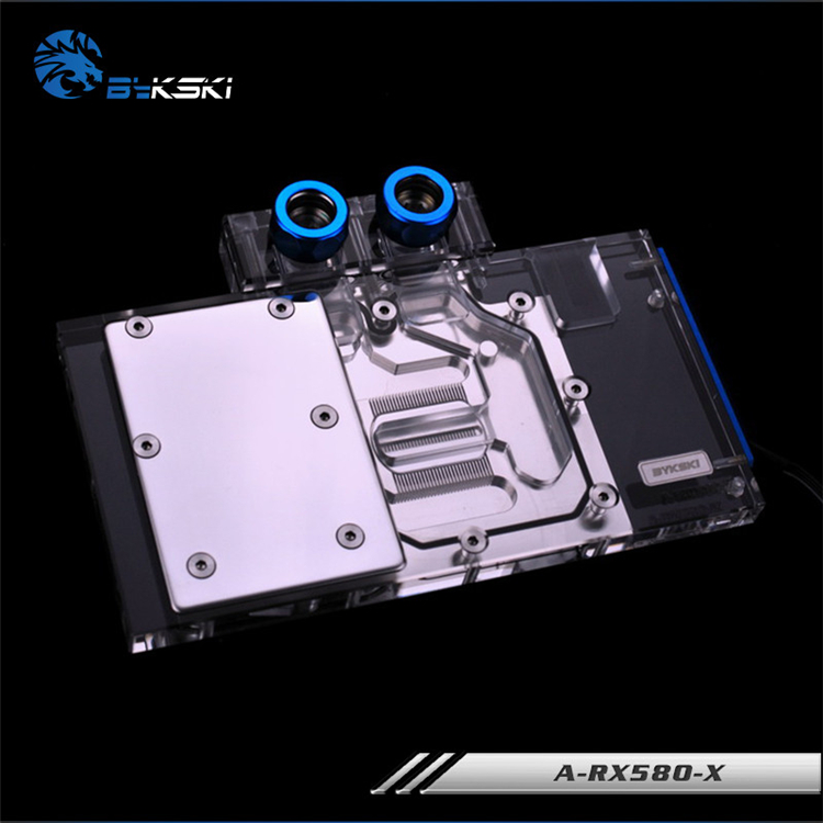 Bykski Full Cover Graphics Card Water Cooling Block Use For Public Version RX580 Water Cooling RGB Light Block A-RX580-X laser machining artificial limb rapid prototyping type and not cnc machining cnc machining or not artificial limb