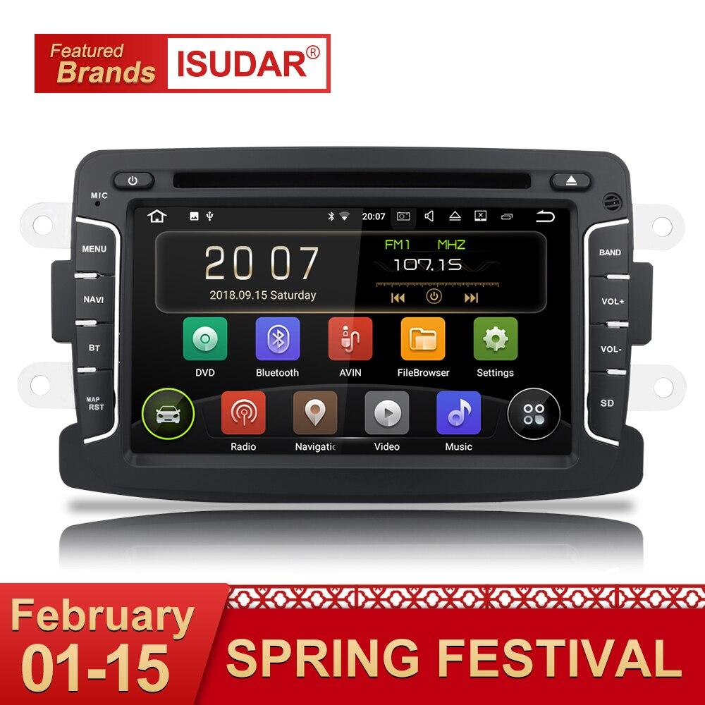 Isudar Auto Lettore Multimediale Android 8.1 di GPS Dell'automobile Radio 1 Din Per Dacia/Duster/Renault/Lada/ xray 2 Lettore DVD FM 2G RAM Quad Core