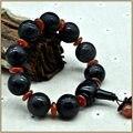 Yumten Natural Agate Stone Bracelet Fine Bracelets For Women Men Round Buddha Mantra Lucky Amulet Black Strand Bracelets Unisex