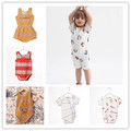 INS HOT 2017 BOBO CHOSES  SUMMER BABY GIRL CLOTHES STRIPE GIRLS BABY ROMPERS BABY CLOTHING KIDS CLOTHES VETEMENT ENFANT FILLE