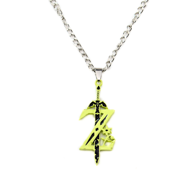 Letter Z Necklace ALP Zelda Necklaces Letter Z Necklace&Pendant Zelda Accessories Fashion  Jewellery Men Gift Woman Sweater Chain