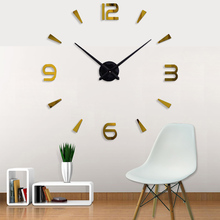 3D Roman numerals Living Room DIY large quartz Acrylic mirror wall clock design & Fashion Art Home Decor stickers wall Watches все цены