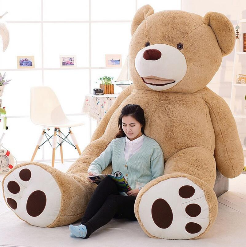 2016 New Kawaii 2.6m Huge Plush Animals Giant Teddy Bear Plush Soft Toys Kids Toys Stuffed Animals Huge Plush Bear Best Gifts 2018 huge giant plush bed kawaii bear pillow stuffed monkey frog toys frog peluche gigante peluches de animales gigantes 50t0424