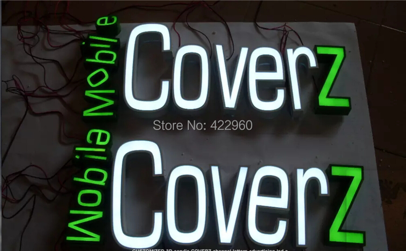 Custom Outdoor Advertising Front Lit Acrylic Channe Letter Signs