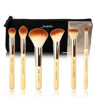 Jessup Brand 6pcs Beauty Bamboo Professional Makeup Brushes Set T144 Cosmetics Bags Women Bag CB001