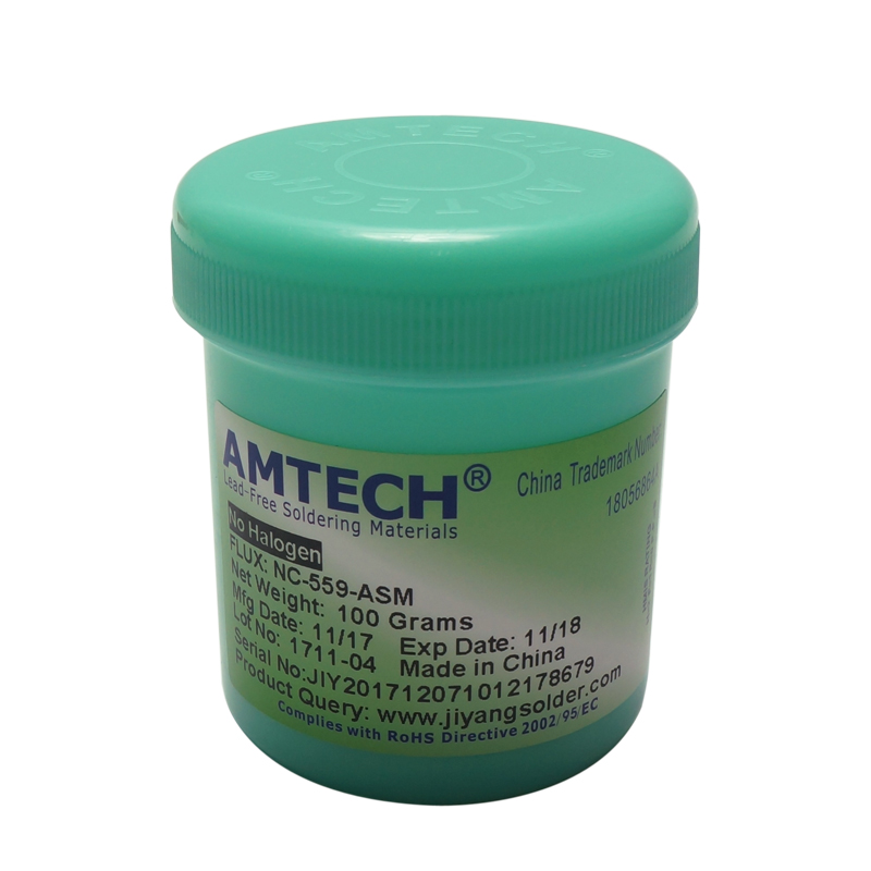 100g AMTECH NC-559-ASM Lead-Free Solder Flux Paste For SMT BGA Reballing Soldering Repair