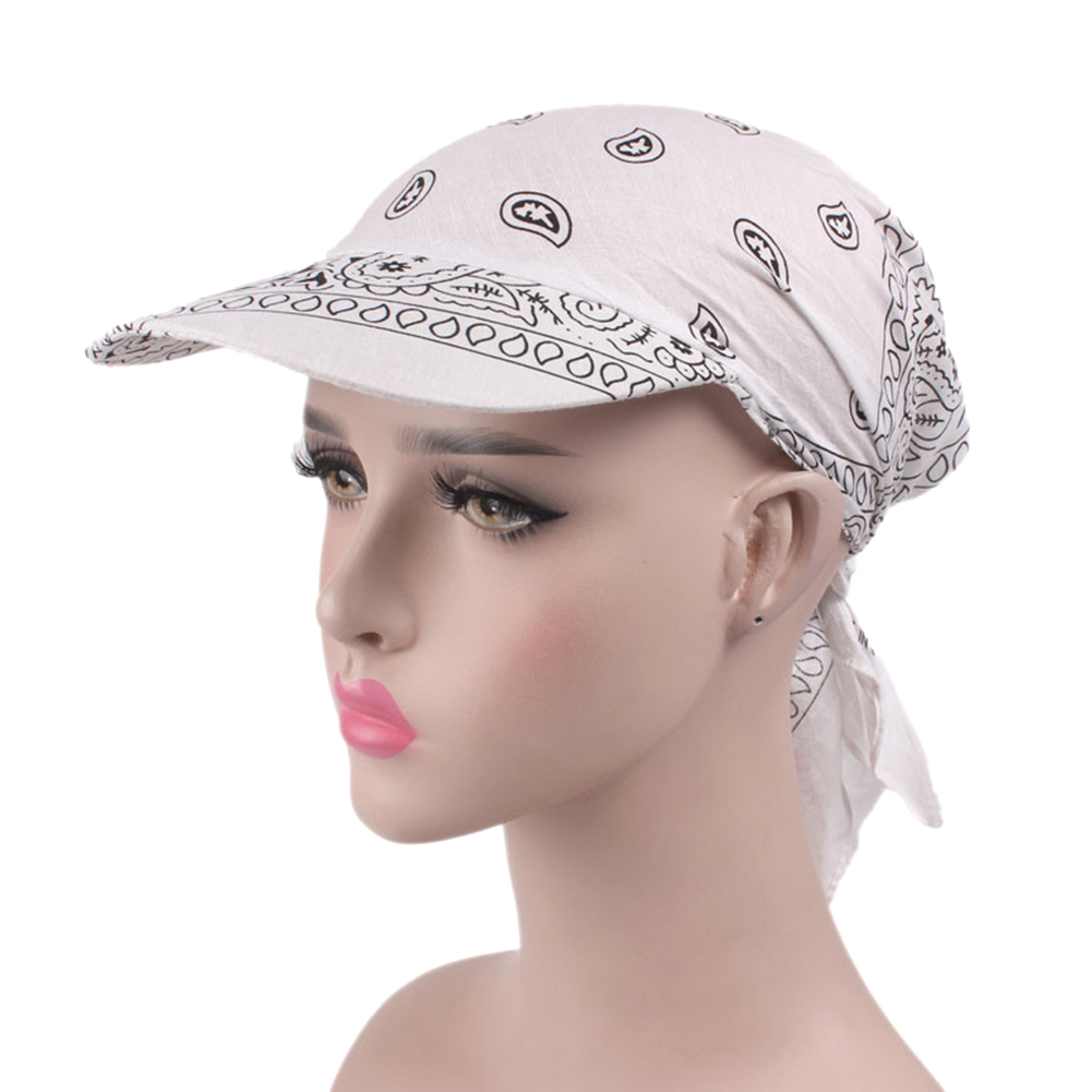 2019 New Outdoor Caps  Spring Summer Sunhat Women's Printed Head Scarf Visor Hat Topee