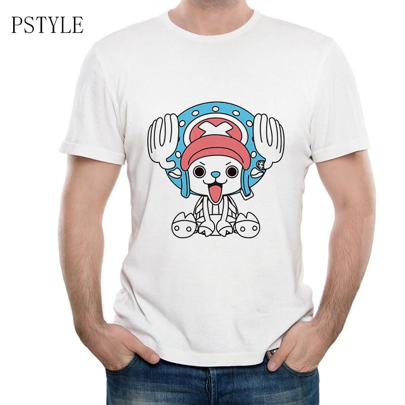 One Piece Anime Cartoon T Shirt Mens Casual Summer Short