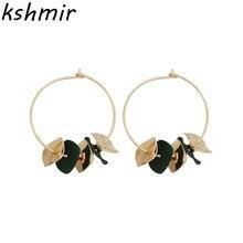2018 fashion irregular female ear ring personality wafer geometry  earrings Joker