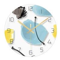 Creative Glass Slim Wall Clock Mechanism 3d Watches Guess Women Watch Kitchen Relogio Parede Silent Clock Living Room 50Q231