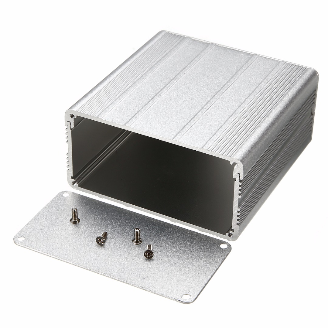 1pc aluminum enclosure case silver diy electronic project for Beistelltisch 100 x 50