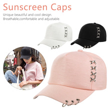 summer New Mens Womens Fashion  Hat Boys Ring Adjustable Baseball Cap 3 Colors Accessories