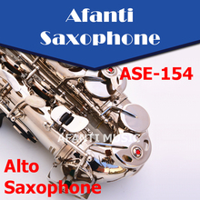 Afanti Music Eb tone / Nickel Plated/  Black Nickel Gold Alto Saxophone (ASE-154)