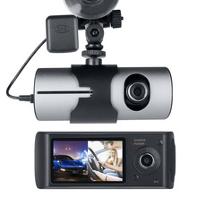 Best price Fodsports 2.7″ TFT LCD Dual Camera Car DVR R300 with GPS G-Sensor Video Camcorder Cycle Recording Digital Zoom