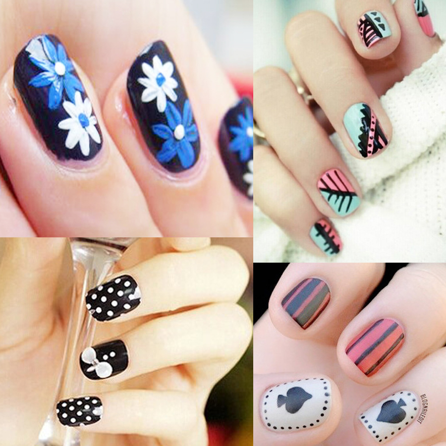 1 Piece Beauty Nail Art Tool Dot Flower Pen Dark Green Color Drawing ...