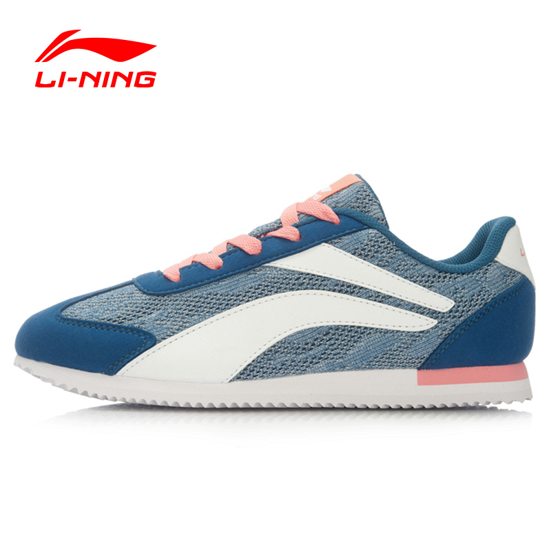 ФОТО Li-Ning Women's 3KM Running Shoes Light Sneakers Classic Footwear Comfort Breathable Sports Shoes ARCL016 XYP458