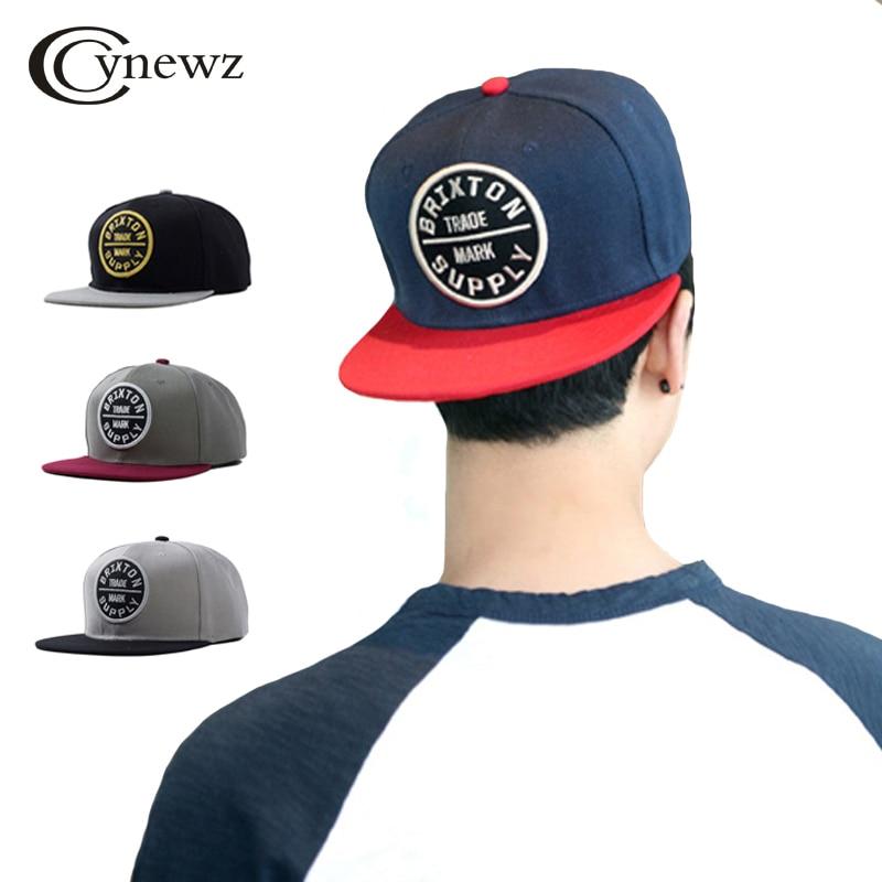 Fashion Baseball Hats Cap Snapback Cotton Caps Embroidery Letters Hat Men Flat Brim Cap Women Hip Hop Casual Assorted Colors Cap