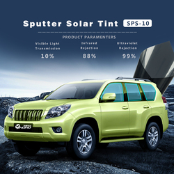 Sunice VLT10% Sputter Solar Window Tint Film Car Side Windshield Glass Film car foils Dark Gray Vinyl 50x300cm/20