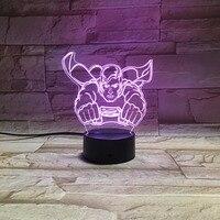 Led 3d Cartoon Character Super Man Lighting Atmosphere Table Lamp Nightlight Usb Led Light Lamp Star Master Kids Lamp Gifts