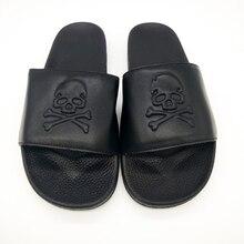 Skull Slippers Couple Flip-Flops Men Slides Home-Shoes Designer Men's Beach Male Casual