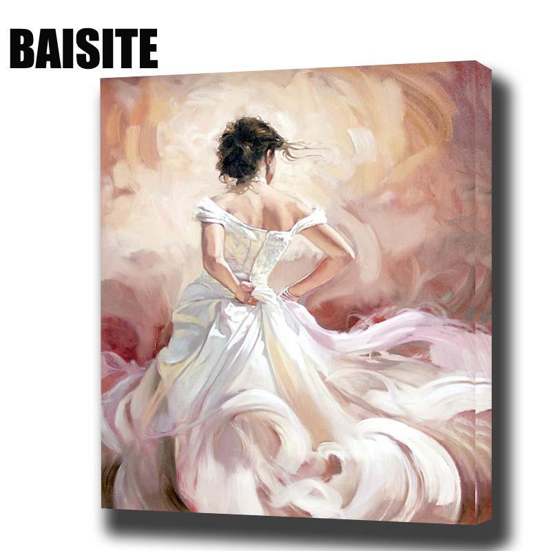 Картина маслом по номерам BAISITE DIY в рамке, Картина на холсте для гостиной, настенное художественное украшение для дома E793|oil painting|framed oil paintingoil painting framed | АлиЭкспресс