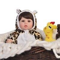 KEIUMI Silicone Rebron Baby Dolls Newborn Baby alive 17 inch Realistic girl bebes reborn bonecas 43 cm Kids Playmates toy dolls
