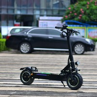 High Power 11 3200w/60v Folding Electric Motorcycle Ebike Scooter with seat dual motor engine P1