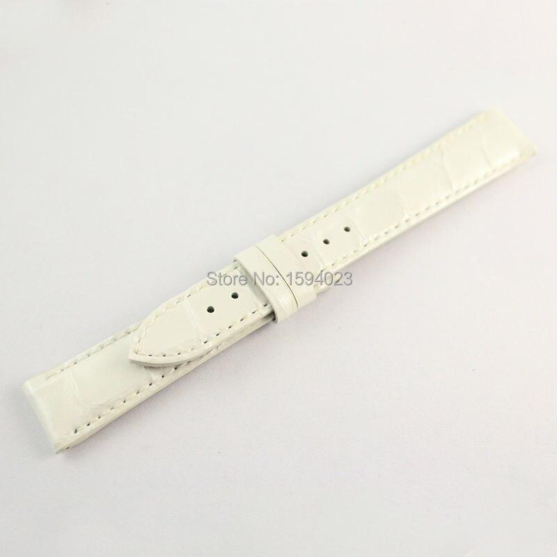 16mm (Buckle14mm) T099207A pour les femmes blanc en cuir véritable manteau de peinture bracelets de montre bracelet