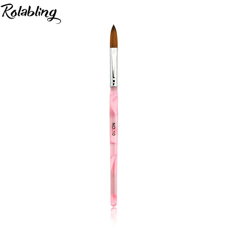 Rolabling 10# 1pcs Nail Brush Crystal Pen DIY Manicure Tools Soft Tip Nylon Hair and Kol ...