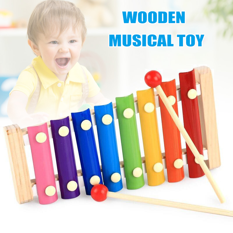 Los Música Piano Madera Juguete Edad Bm88 Xilófono Niños De En Preescolar Octava HYEW29DI