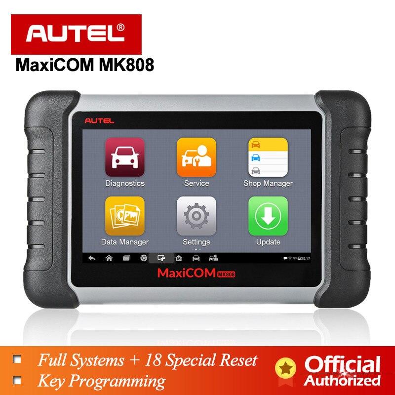 Autel MaxiCOM MK808 MX808 OBD2 II Scanner Ferramenta de Diagnóstico Automóvel Todo o Sistema de Programação Chave ABS SRS como MD802 + MaxiCheck pro