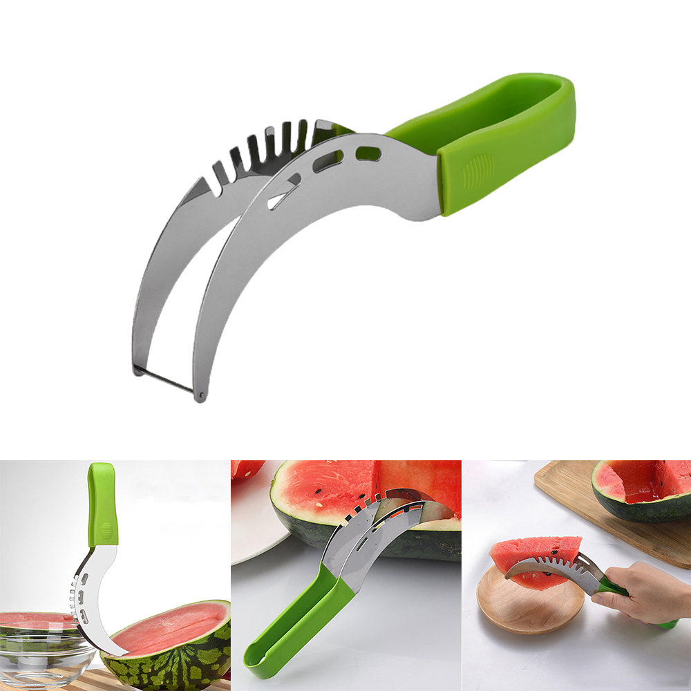 1pc Stainless Steel Watermelon Slicer Corer Fruit Peeler Faster Melon Cutter - Slice Melons Right Out Of The Rind Kitchen Tools
