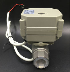 TFM15-S2-C, New 2 Way SS304 1/2'' DN15 Proportional Valve 0-5V,0-10V or 4-20mA DC9V-24V 5 Wires For Water Modulating Control