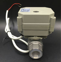 TFM15 S2 C, New 2 Way SS304 1/2'' DN15 Proportional Valve 0 5V,0 10V or 4 20mA DC9V 24V 5 Wires For Water Modulating Control