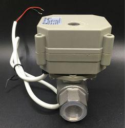 TFM15-S2-C, nueva válvula proporcional DN15 de 2 vías SS304 de 1/2 pulgadas de 0-5V,0-10V o 4-20Ma, 5 cables para Control de modulación de agua