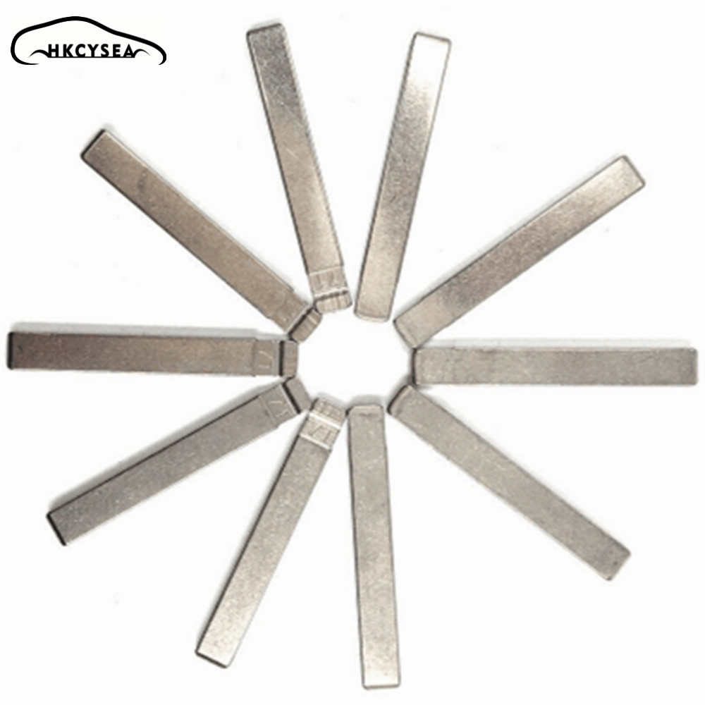 HKCYSEA 10 Pcs/lot Metal Blank Uncut Flip  KD Remote Key Blade Type #71 For GM For Buick For Cruze NO. 71 Blade