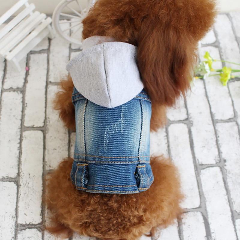 Hoomall 5 Dimensione Pet Vestiti Del Cane Autunno Inverno Dei Jeans Con Cappuccio Della Maglia Per Le Piccole Medie Cani Di Taglia Grande Freddo Caldo Vestiti Del Cane Forniture Per Animali Da Compagnia