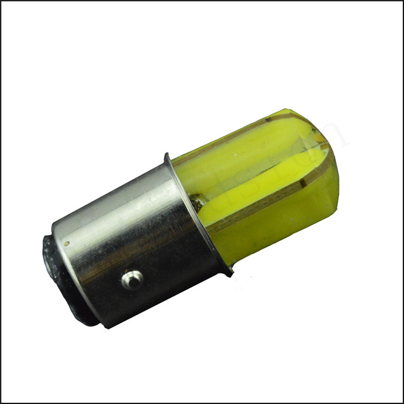 1x P21/5W LED Car BAY15D led Bulb 1157 Tail Signal Brake Stop Reverse DRL Light COB Silicone led smd White Red optional