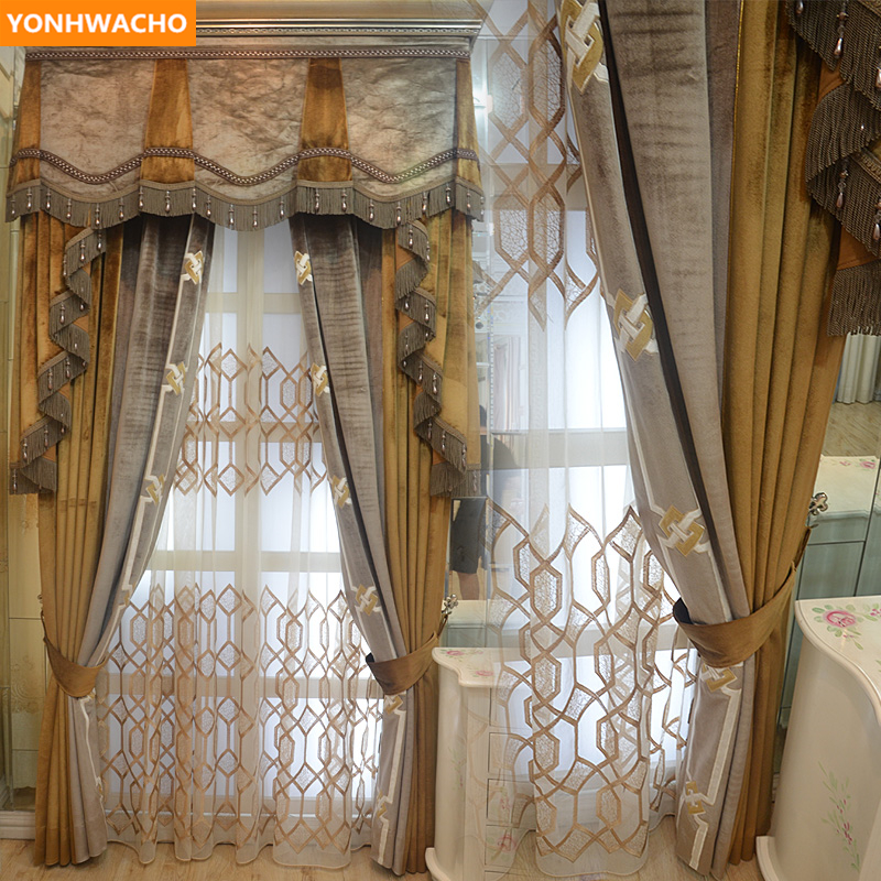 Custom Curtains Luxury French Livingroom High Grade Thick