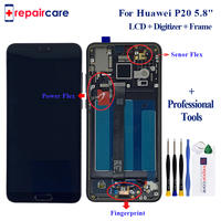 2240x1080 5.8 For Huawei P20 LCD Display Touch Screen Digitizer Assembly EML L29 L22 L09 AL00 For Huawei P20 LCD With Frame