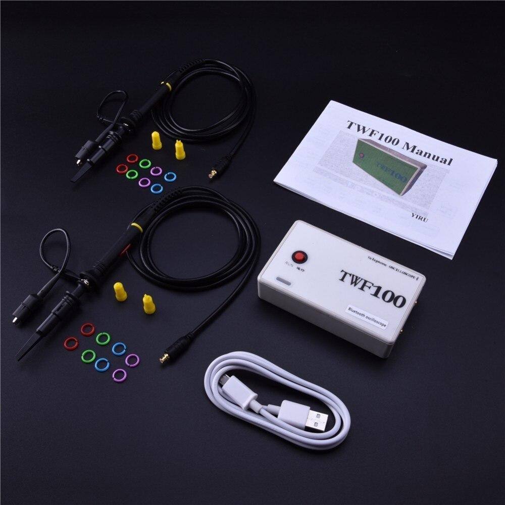 Bluetooth Oscilloscope Android 4.0 Avec 2CH USB Numérique Mini Oscilloscope soutien PC/Mobile téléphone/PAD TWF100
